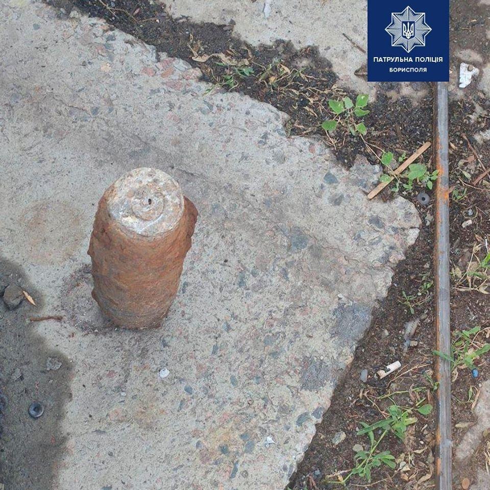Бориспіль: у смітті чоловік знайшов снаряд часів Другої світової - Бориспіль - 82038267 2726761580878960 1480393899754948156 o