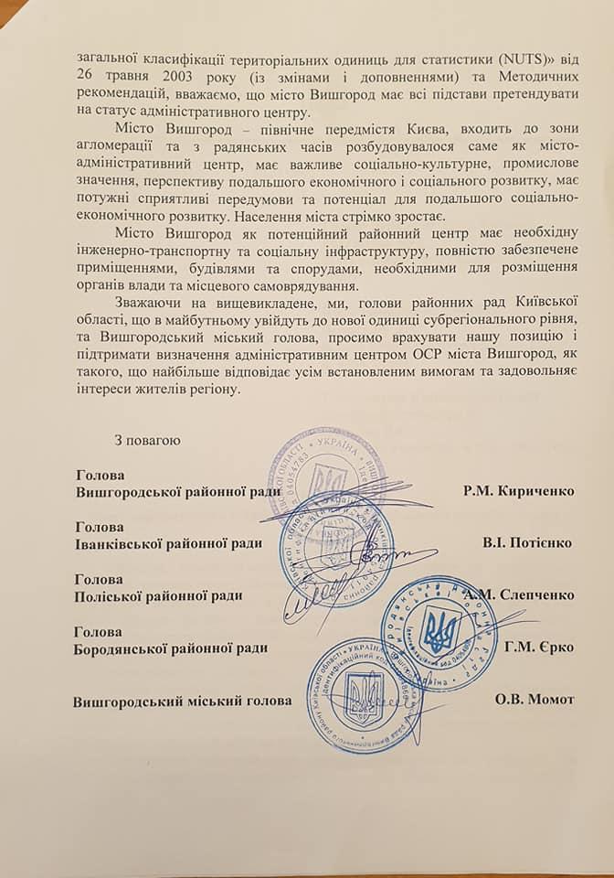 Голови низки райрад Київщини просять зробити центром нового району Вишгород - нові райони, київщина, децентралізація, Вишгород - Rada5