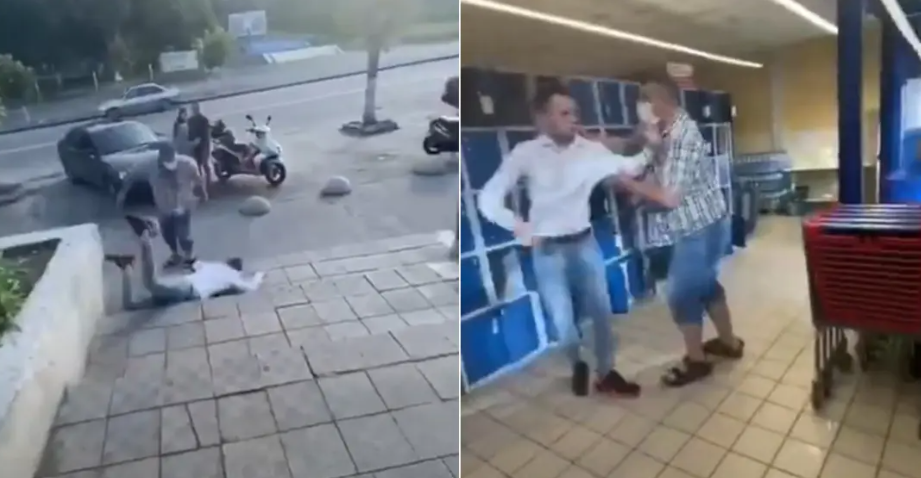 «Ковбасна» бійка між покупцями у супермаркеті Василькова -  - Snymok ekrana 378
