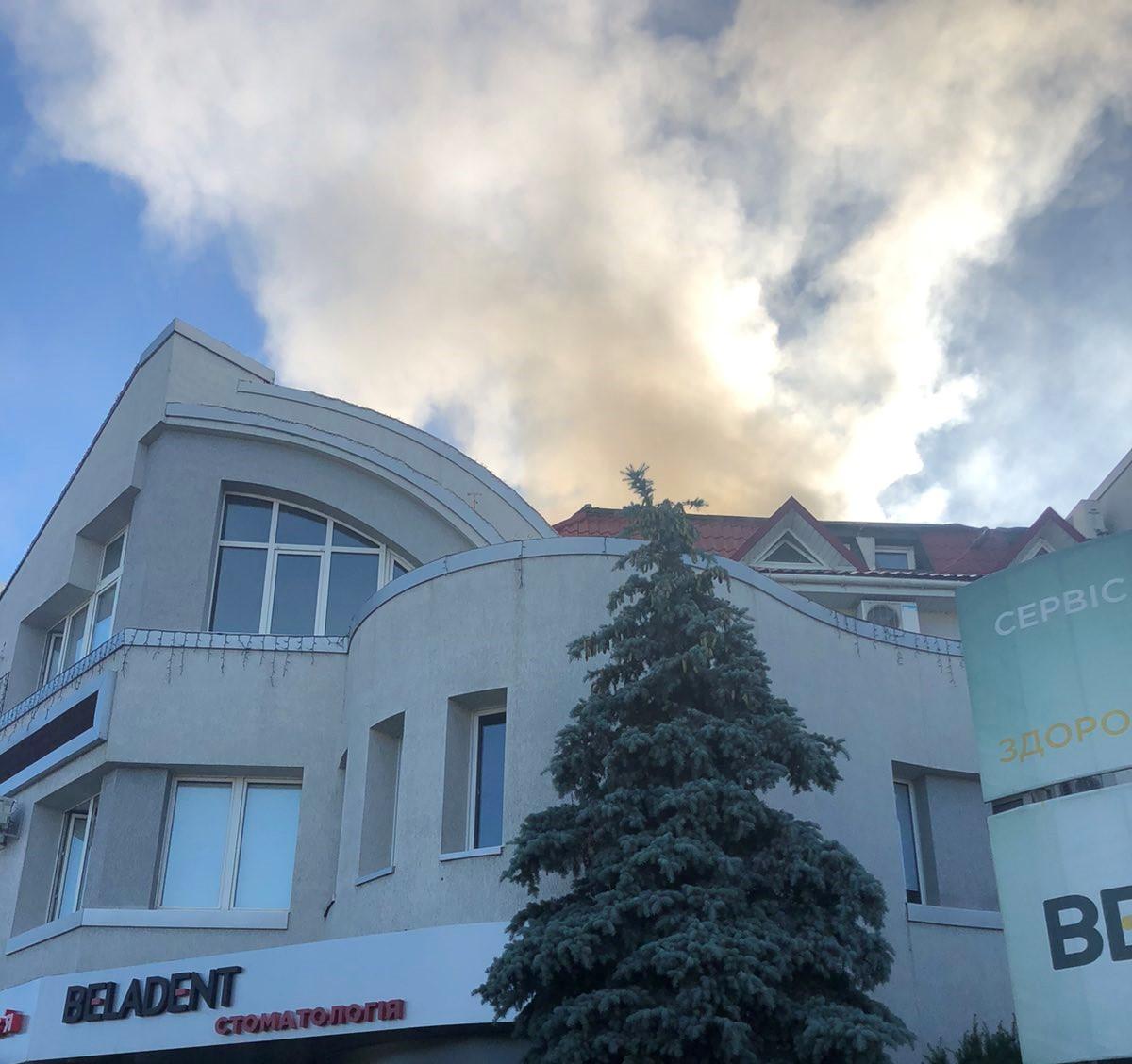 У Білій Церкві загорівся медичний центр (ВІДЕО) - пожежа, Біла Церква - zobrazhennya viber 2020 06 26 07 41 09