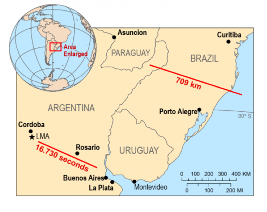 Новий рекорд: зареєстрована найдовша блискавка в історії людства - природнє явище, найдовша блискавка, ВМО, Аргентина - 02 molnyya2