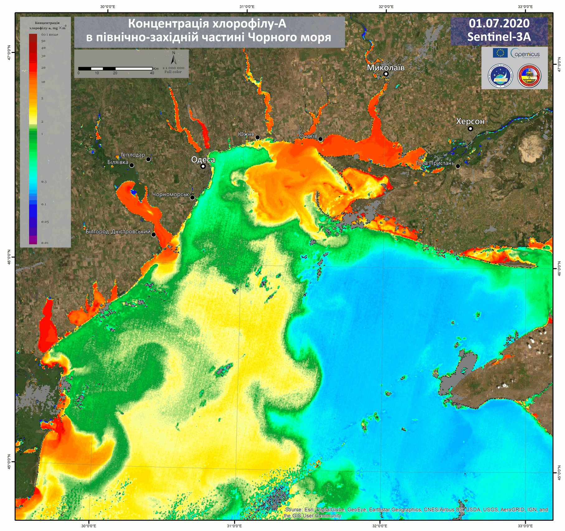 Як «зацвіло» Чорне море, побачили навіть з космосу - Одеса, Море - 08 more