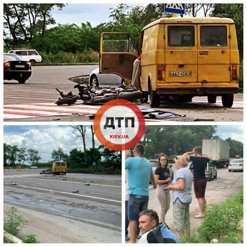 ДТП під Києвом: водій мотоцикла врізався в бус - Бровари - 106805839 1710093012489918 6492729422144482497 o