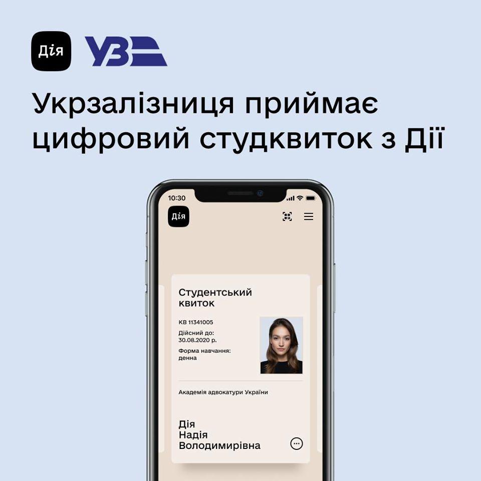 Для українських студентів запровадили залізничний е-квиток - Укрзалізниця, студентський е-квиток, застосунок Дія - 107583392 3388992174467880 335477463068167397 o