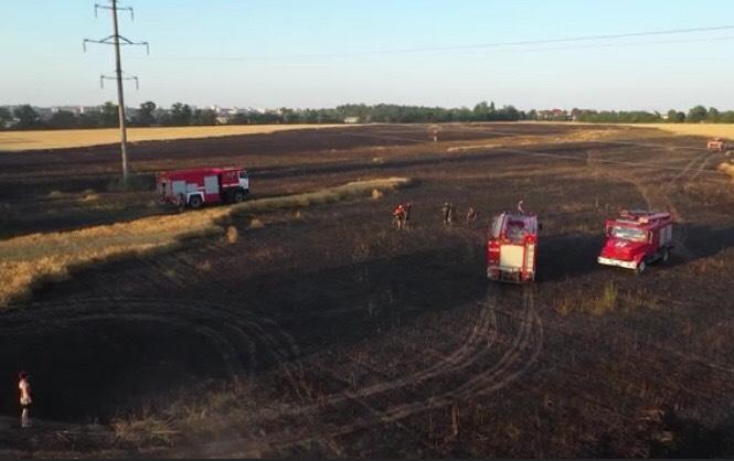 На Білоцерківщині загорілось ячмінне поле - ДСНС, Біла Церква - IMG 9268