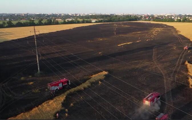 На Білоцерківщині загорілось ячмінне поле - ДСНС, Біла Церква - IMG 9269