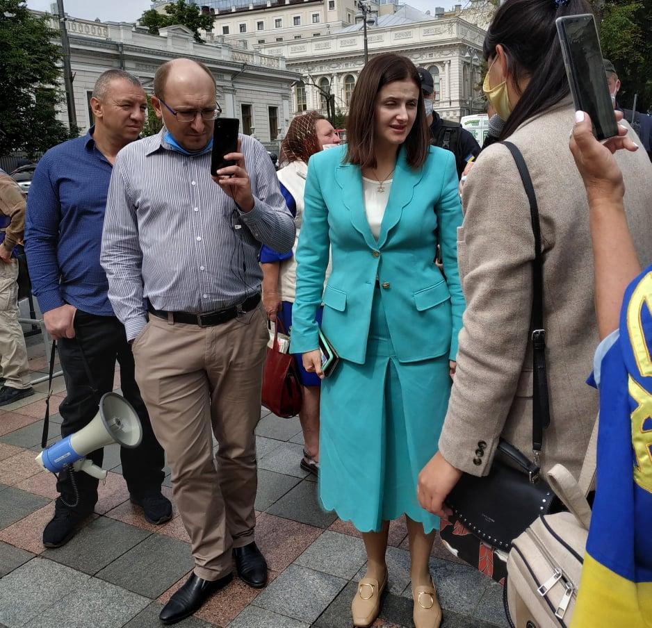 Представники низки районів Київщини пікетували Верховну Раду і Офіс президента -  - Piket Smaglyuk