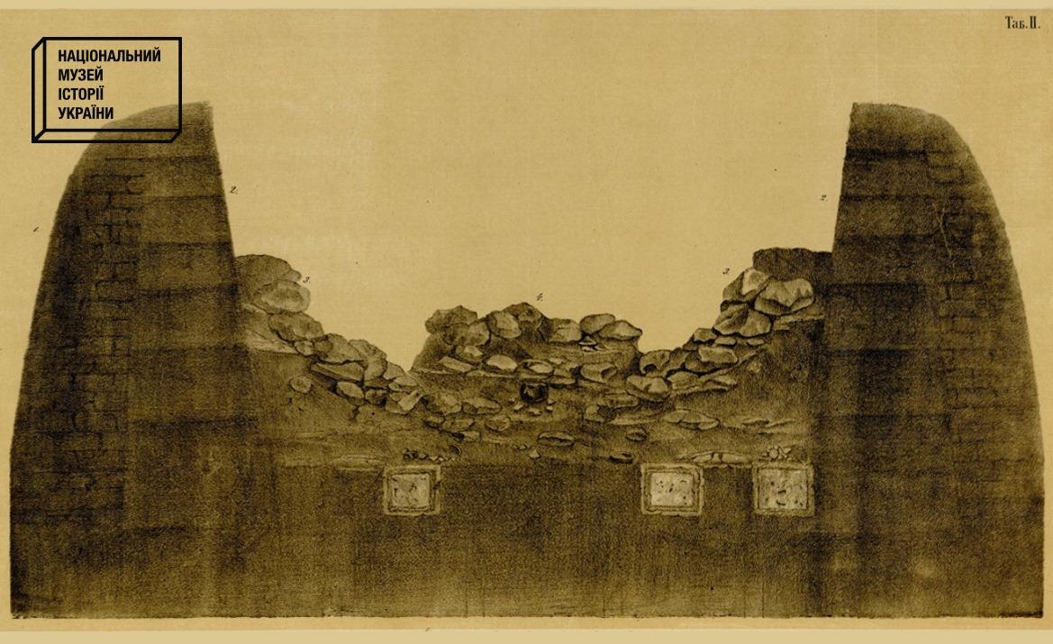 175 років тому Тарас Шевченко долучився до розкопок кургану на Васильківщині -  - SHevchenko. Poperechnyj rozriz kurganu Perepyatyha.