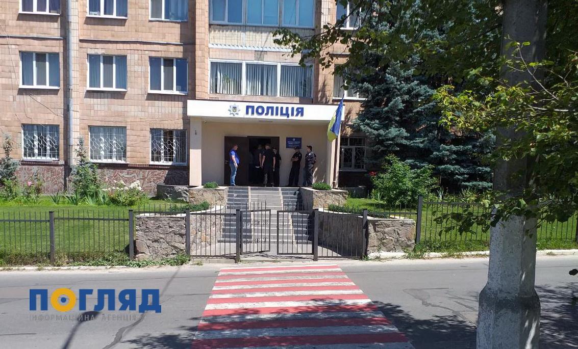 У Василькові евакуювали людей на ринках та у відділі поліції (оновлено) -  - zobrazhennya viber 2020 07 11 12 41 40
