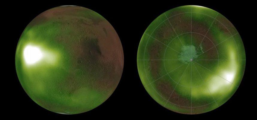 На Марсі зафіксували загадкове пульсуюче в ультрафіолеті світіння - планета - 09 mars