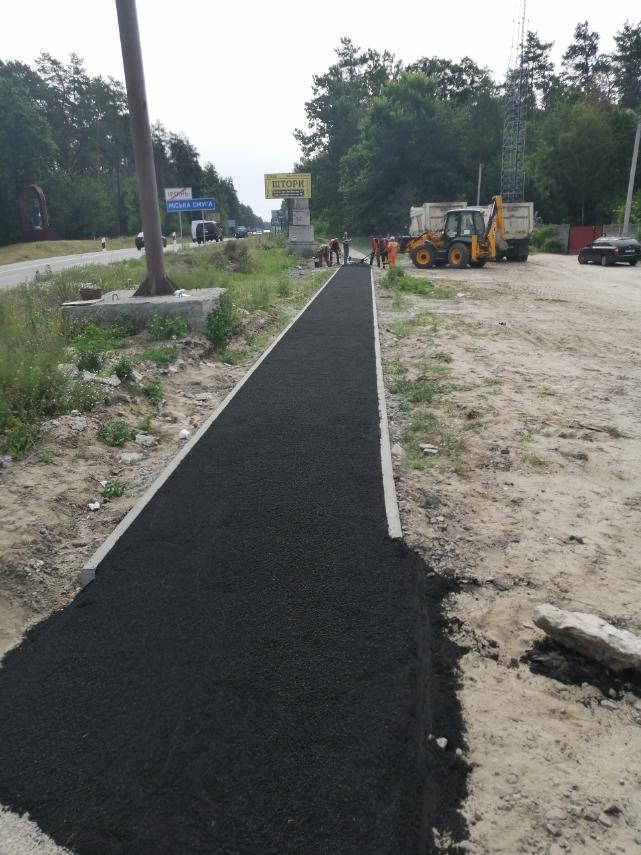 В Ірпінському регіоні на автошляху Р-30 розпочалось будівництво тротуару -  - 116645395 996797804087590 2483442872061406665 n
