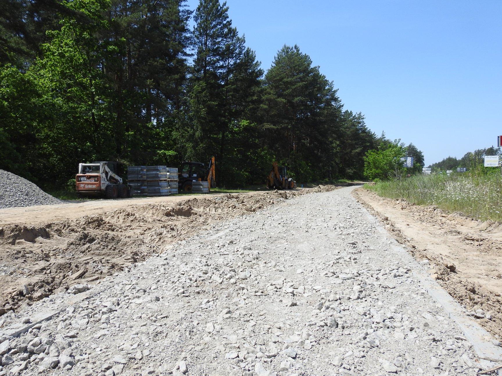 В Ірпінському регіоні на автошляху Р-30 розпочалось будівництво тротуару -  - 116783756 996797724087598 3999062188387358737 o