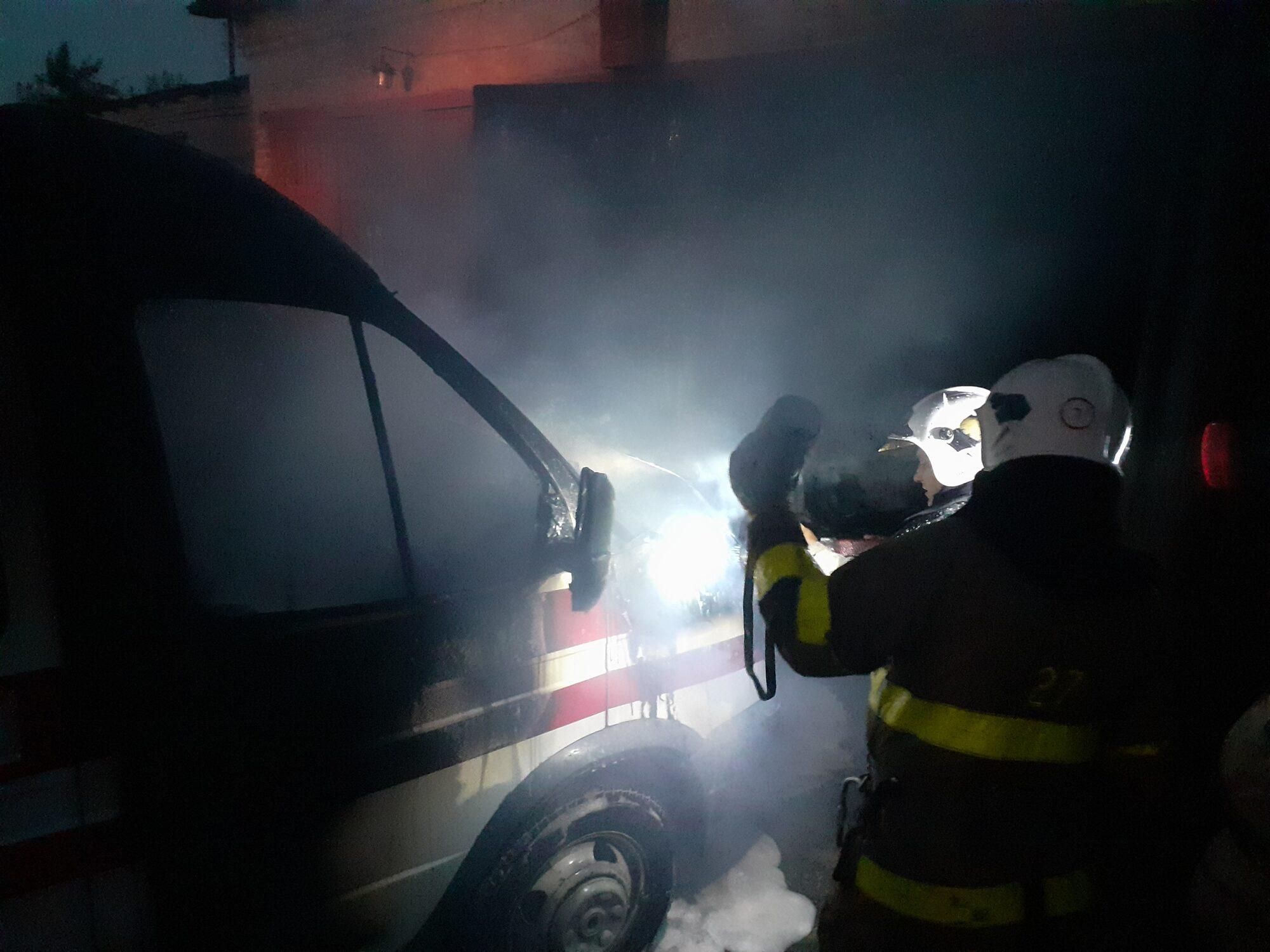 У Сквирі горів автомобіль швидкої допомоги -  - 20200821 204610 2000x1500