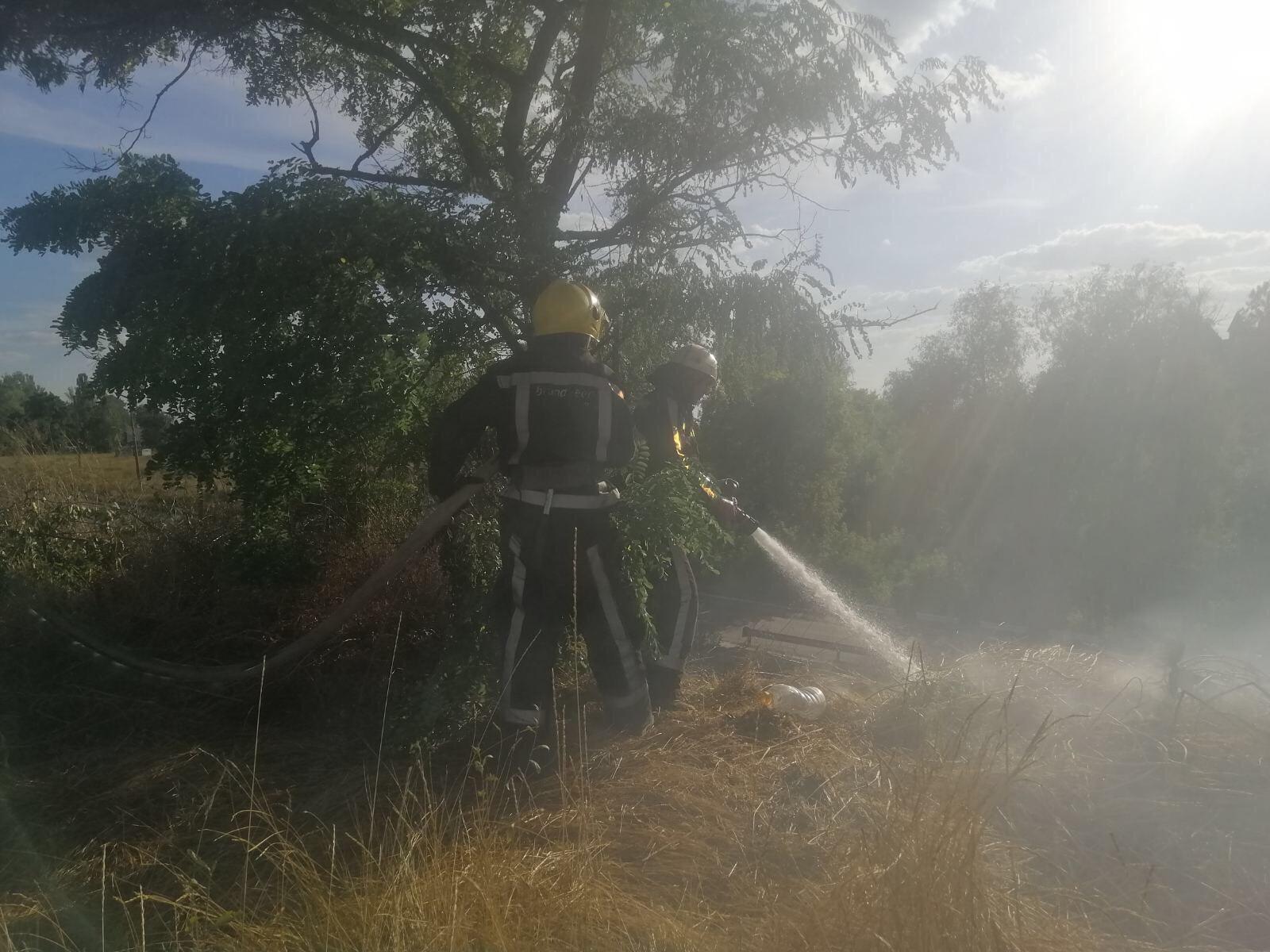 Підпали сухої трави перетворюються на рукотворне стихійне лихо - рятувальники -  - IMG 0956