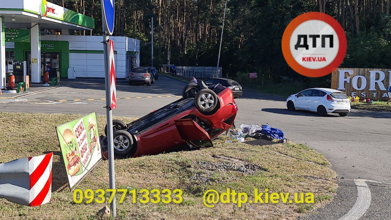 ДТП на Житомирській трасі: авто перевернулося на дах - ДТП - IMG 20200810 093148 645