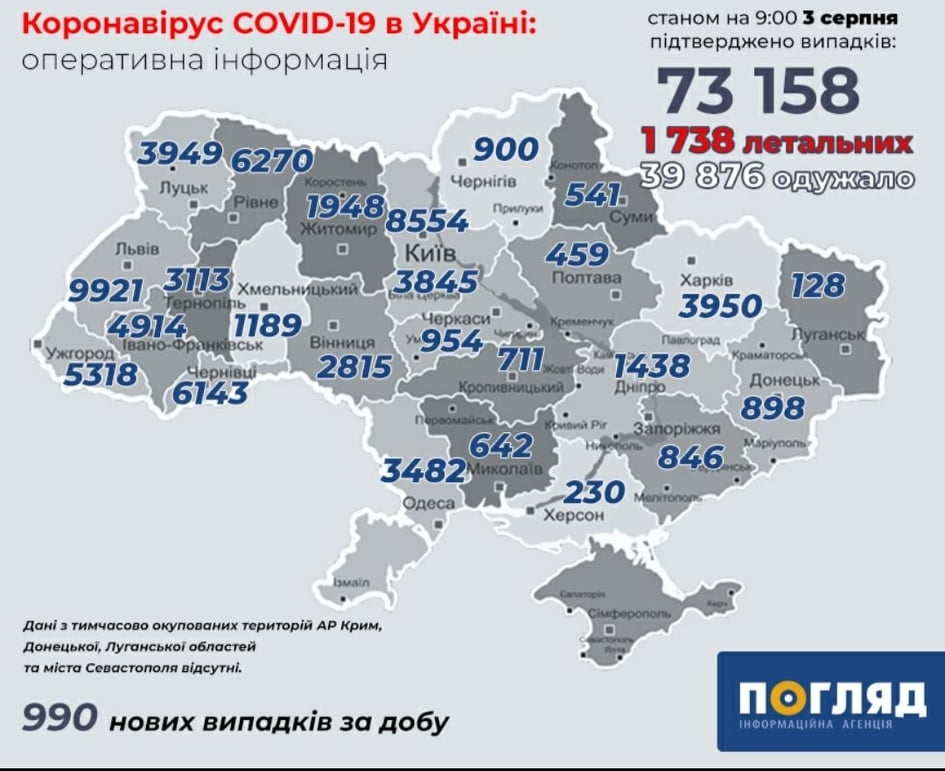 В Україні за добу від коронавірусу померли 13 осіб - Україна, статистика, коронавірус, COVID-19 - Karta karta