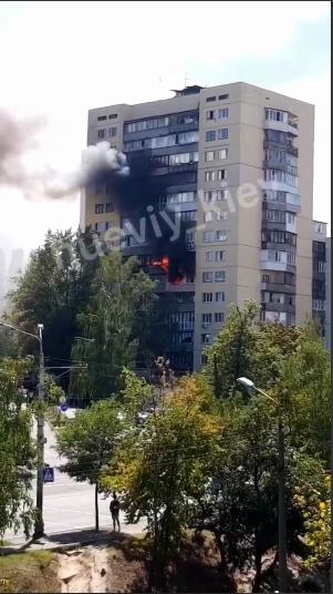У столичній висотці пожежа перекинулася на кілька квартир -  - Screenshot 6 1
