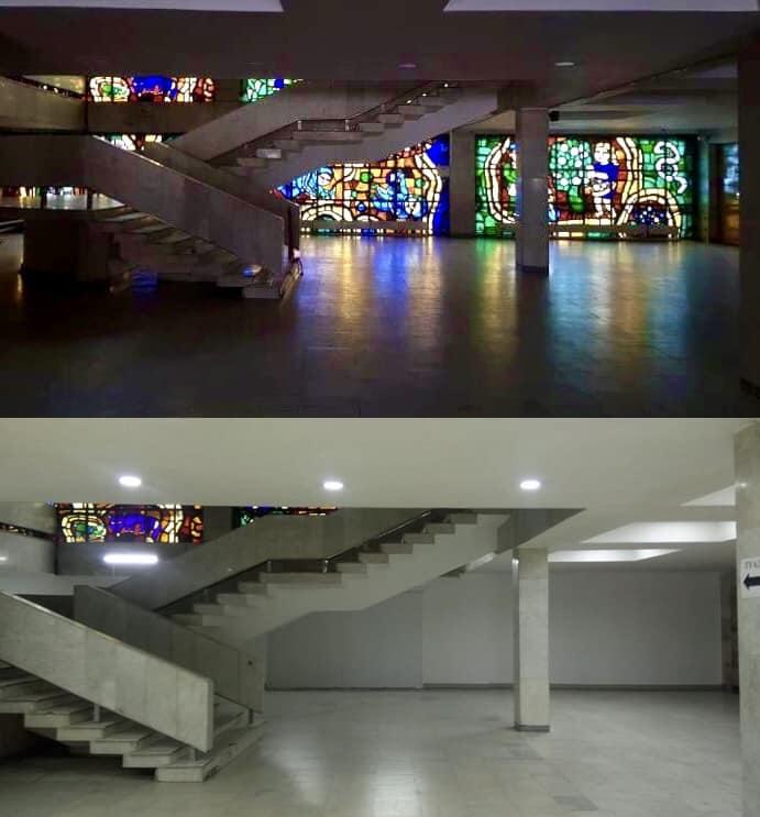У Білій Церкві демонтували унікальний вітраж - Культура, київщина, демонтаж, Біла Церква - Vitrazh1