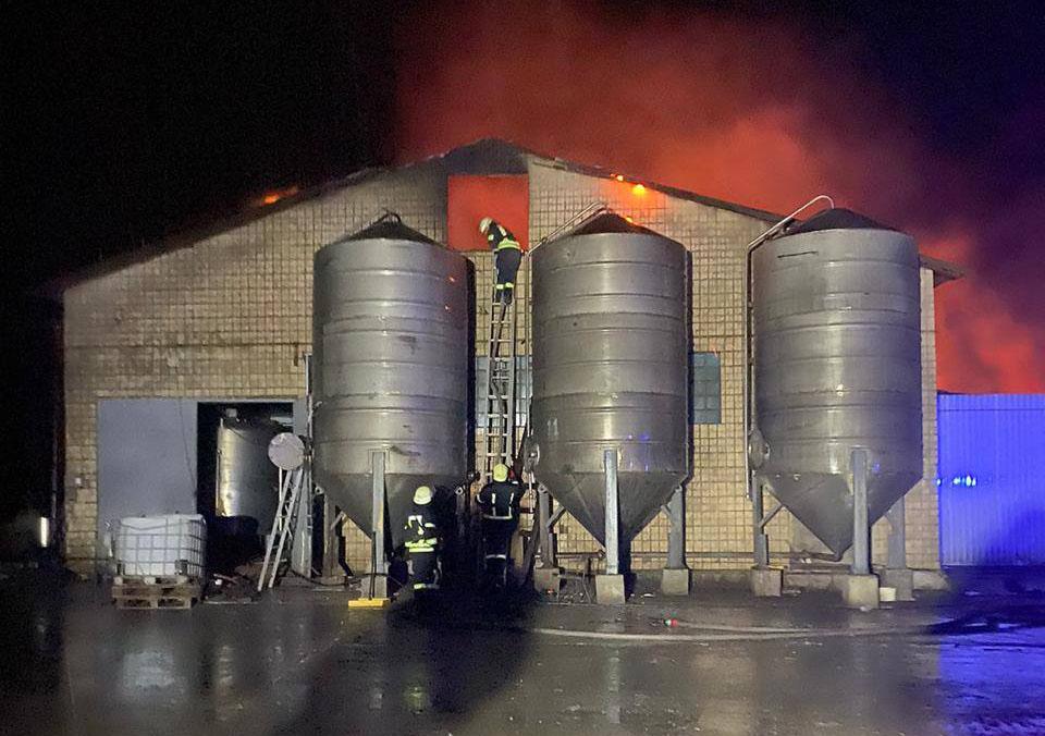 На Васильківщині палала недіюча птахофабрика - пожежа, Васильківщина - 05923538524 n