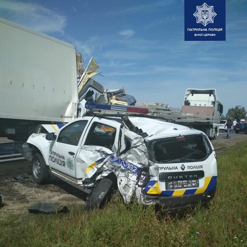 На Васильківщині водій вантажівки наїхав на патрульних -  - 118599819 1764653887034997 7327138570086894239 n
