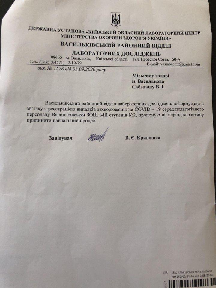 Васильківська школа №2 перейшла на дистанційне навчання -  - 118796736 1165484567158531 8382482340383747945 o