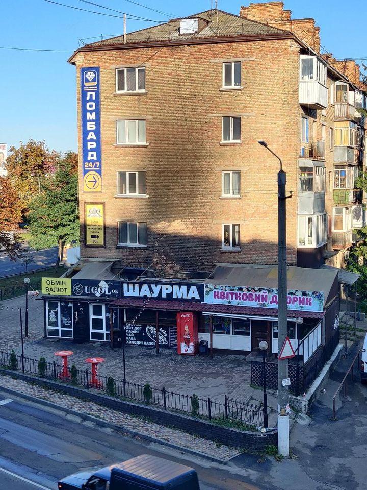 У центрі Борисполя горів кіоск із шаурмою - пожежники, вогонь - 119496367 2789777834630283 1170304160866708496 o