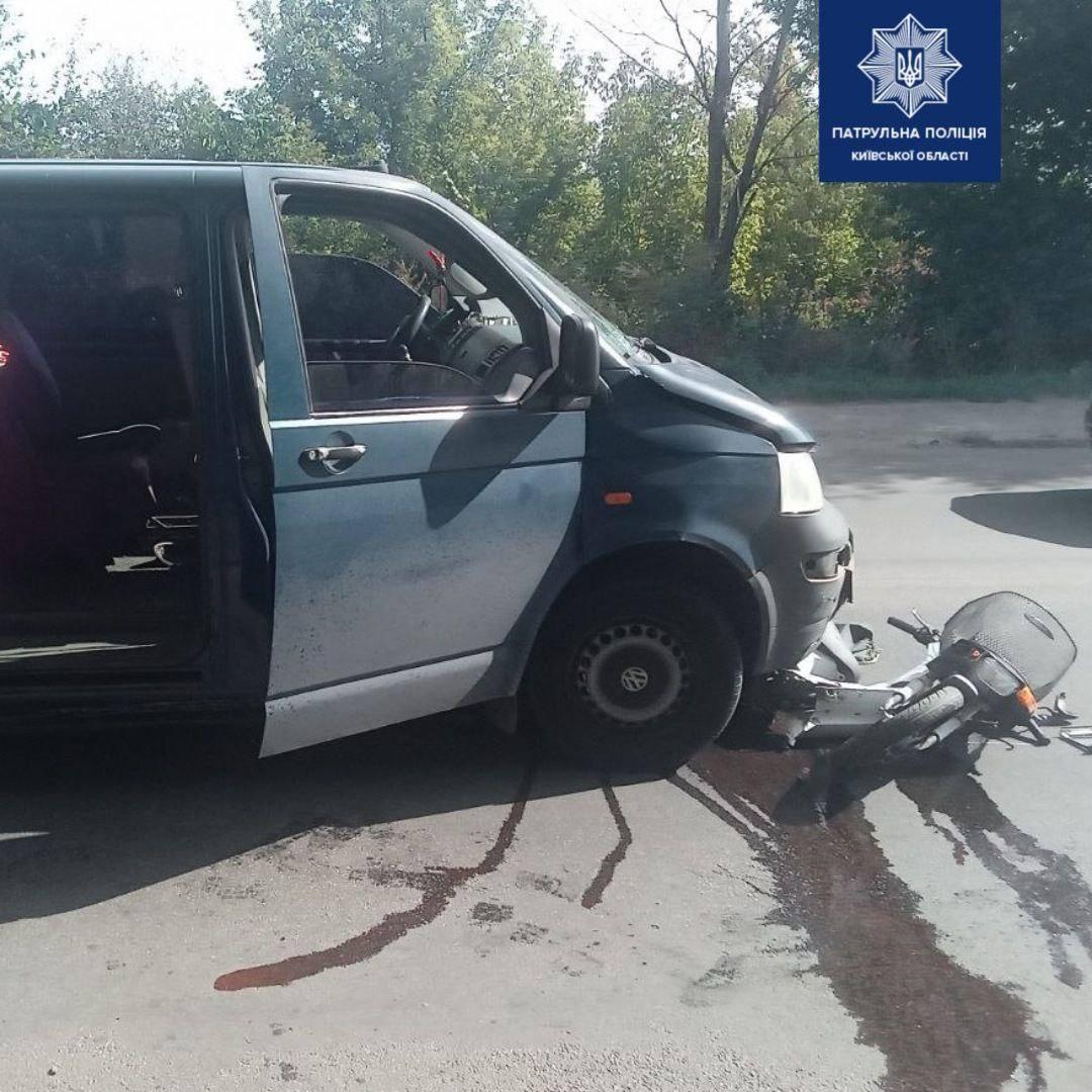 У Білій Церкві мопед потрапив під автомобіль - скутер, автомобіль - 120134153 1887985564708361 8918746754599487275 o