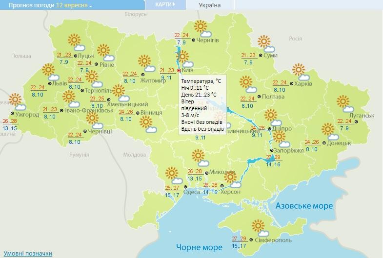 На вихідних на Київщині розпочнеться «бабине літо» - прогноз погоди на вихідні, погода на вихідні - 12 pogoda