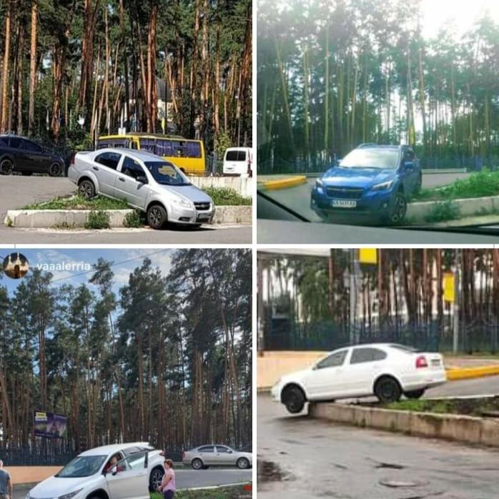 В Ірпені на з'їзді з дороги знову застрягла машина (ВІДЕО) -  - 20200905 194356