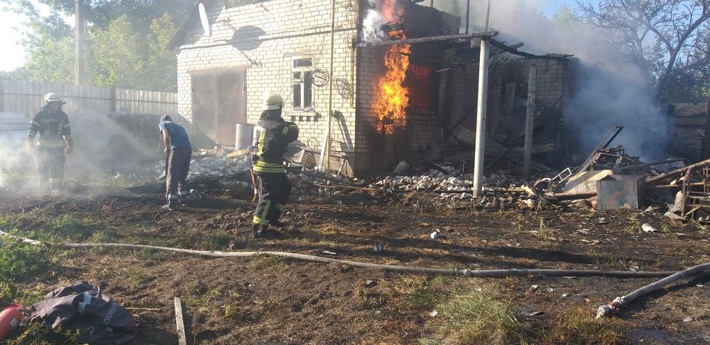 На Бориспільщині в пожежі загинув чоловік (відео) - ГУ ДСНС у Київськійобласті, вогонь - 20200909 170158