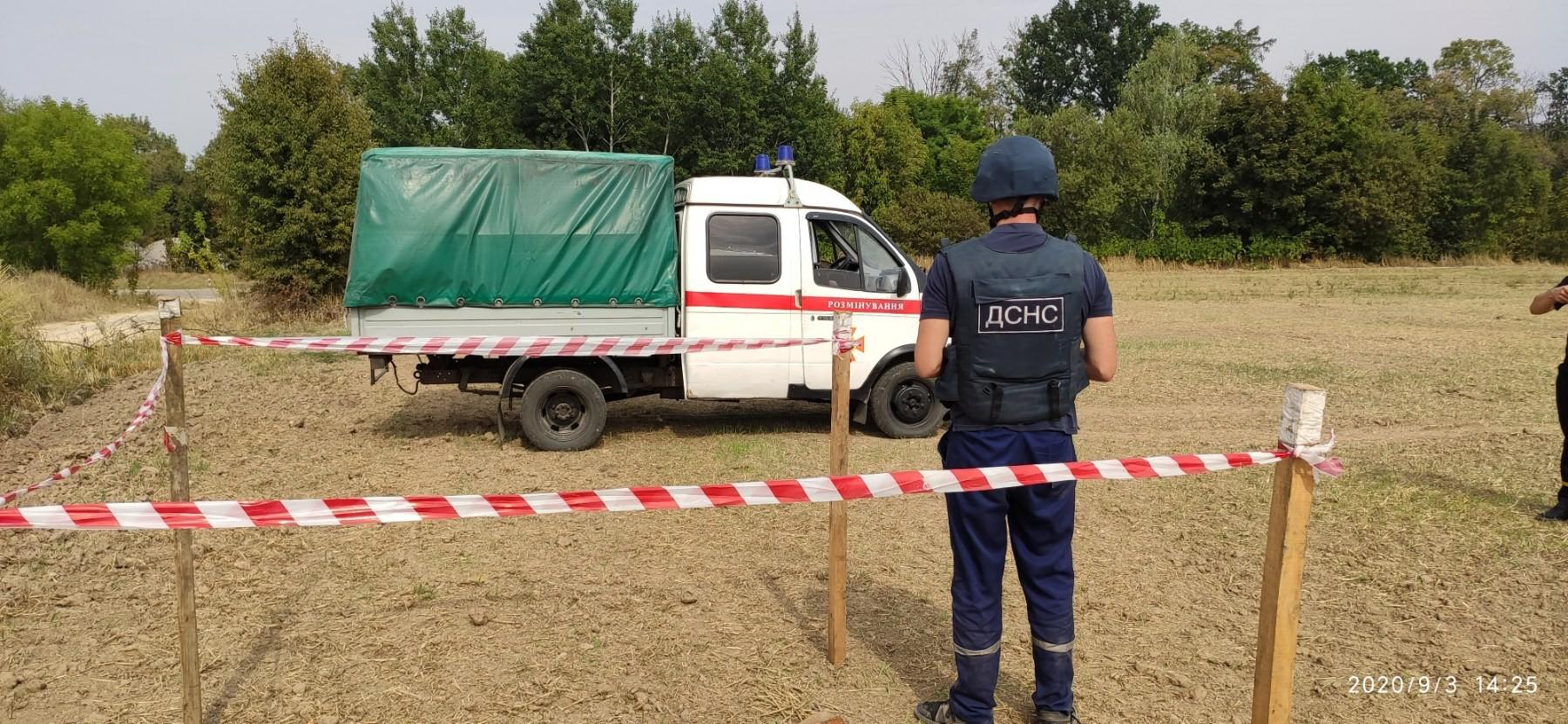 На Київщині виявили та знищили артилерійські снаряди та мінометну міну - Таращанський район, мінометна міна, ДСНС, артилерійські снаряди - 67777lll