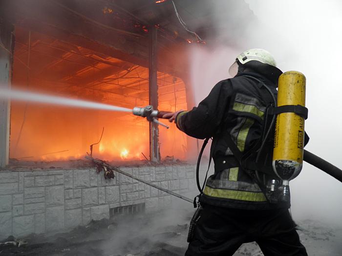 На Бориспільщині горів будинок - пожежники, вогонь - P2010351