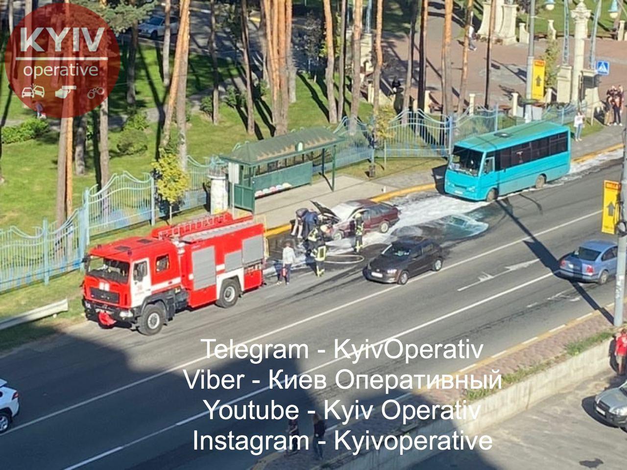 В Ірпені під час руху загорівся автомобіль -  - photo 2020 09 14 09 50 00