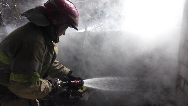 У Білій Церкві горів магазин - магазин, ГУ ДСНС у Київськійобласті, вогонь - riatuvalnyk pozeza dsns