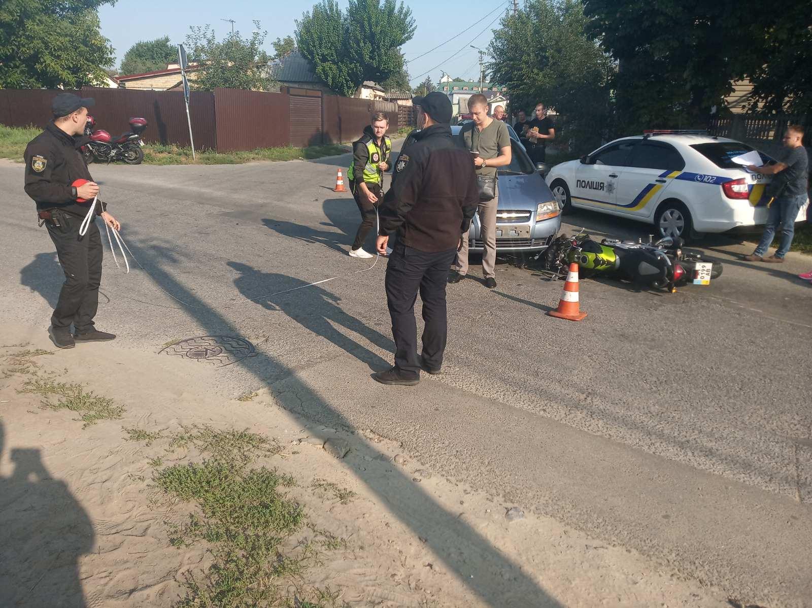 У Броварах сталася мото ДТП з постраждалим - мотоцикл, мотодтп, ДТП з потерпілим - yzobrazhenye viber 2020 09 16 10 19 05