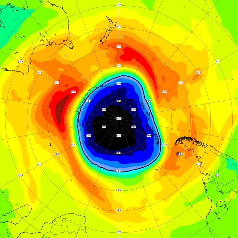 Озонова діра над Антарктидою досягла рекордних значень - озоновий шар, озонова діра, озон - 09 ozon
