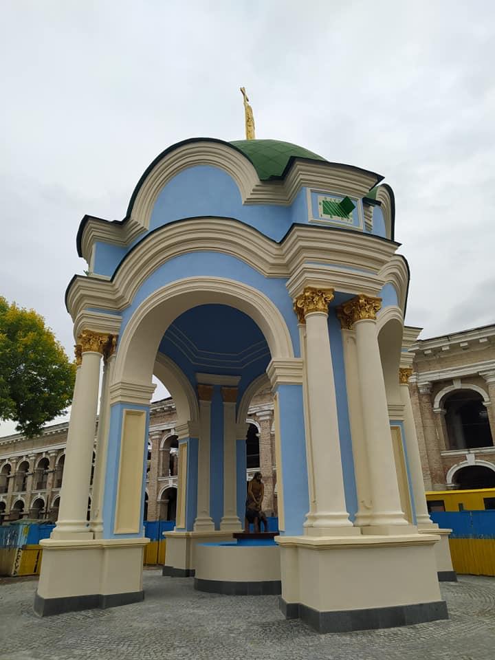 Вже не рожевий: у Києві розфарбували фонтан «Самсон» - фонтан, вандали - 120893789 3905587529470203 5782933886618575577 n