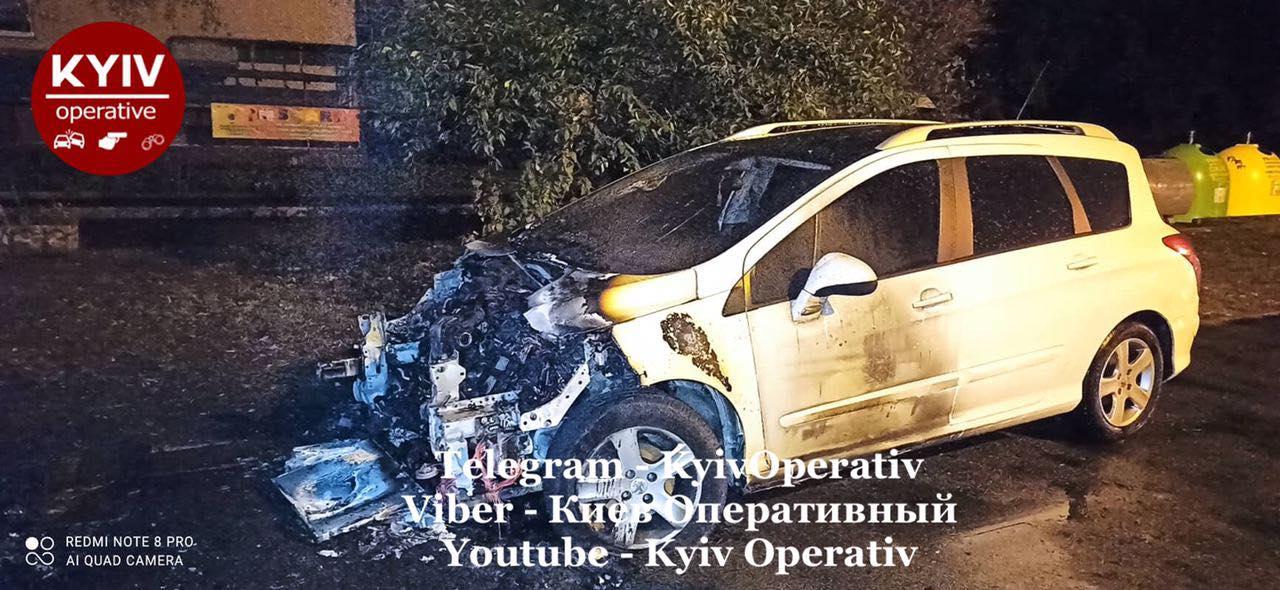 У Києві від підпалу постраждали кілька автомобілів -  - 120999138 1102559743473444 3817677022138131691 o