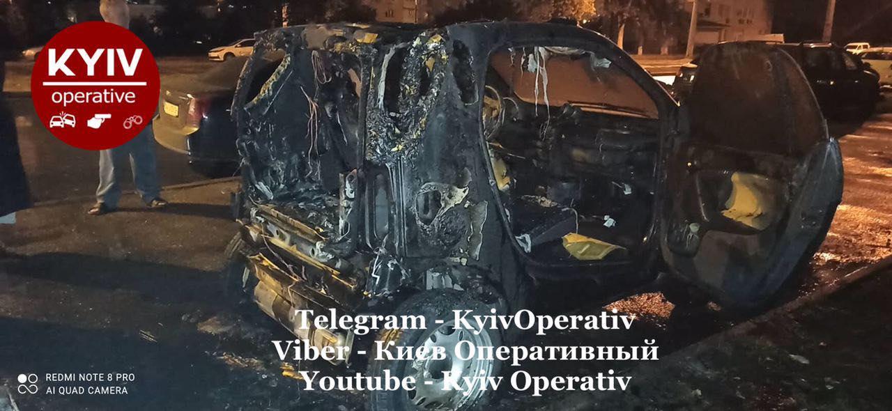 У Києві від підпалу постраждали кілька автомобілів -  - 121019413 1102559733473445 2333014243485668156 o