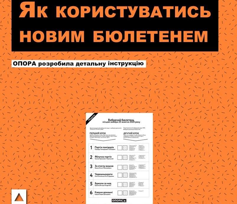 Як правильно заповнити виборчий бюлетень? - вибори-2020, бюлетень - OPORA Byuleten OBR