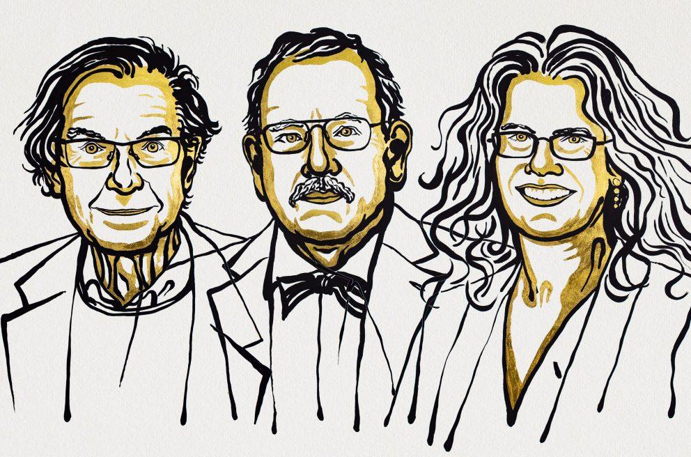 Світова продовольча програма (WFP) - лауреат Нобелівської премії миру-2020 - переможці, Нобелівська премія - penrose genzel ghez 3 2 992x656 1