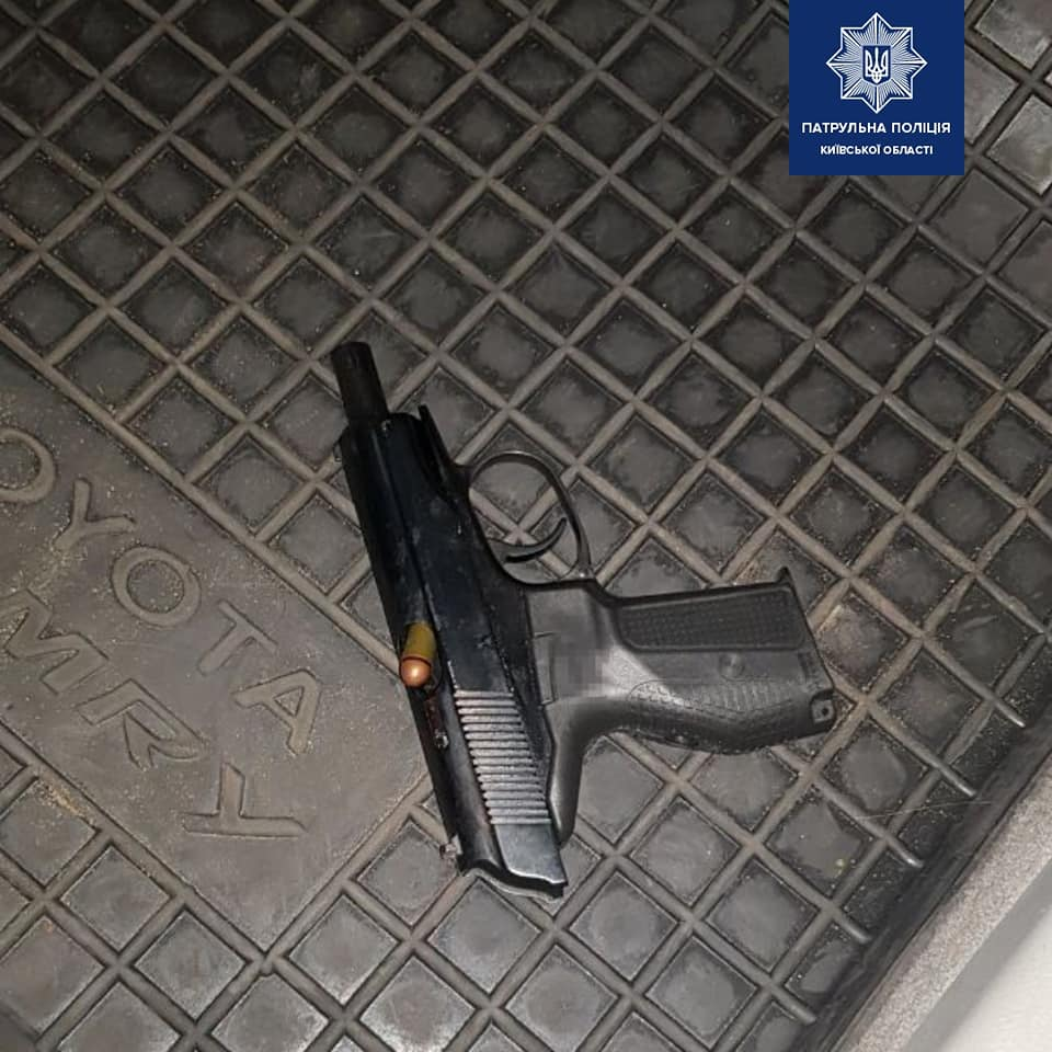 У Борисполі чоловік під час бійки погрожував пістолетом - поліція Київської області, пістолет - 127715557 1950545291785721 2908692536660249085 n