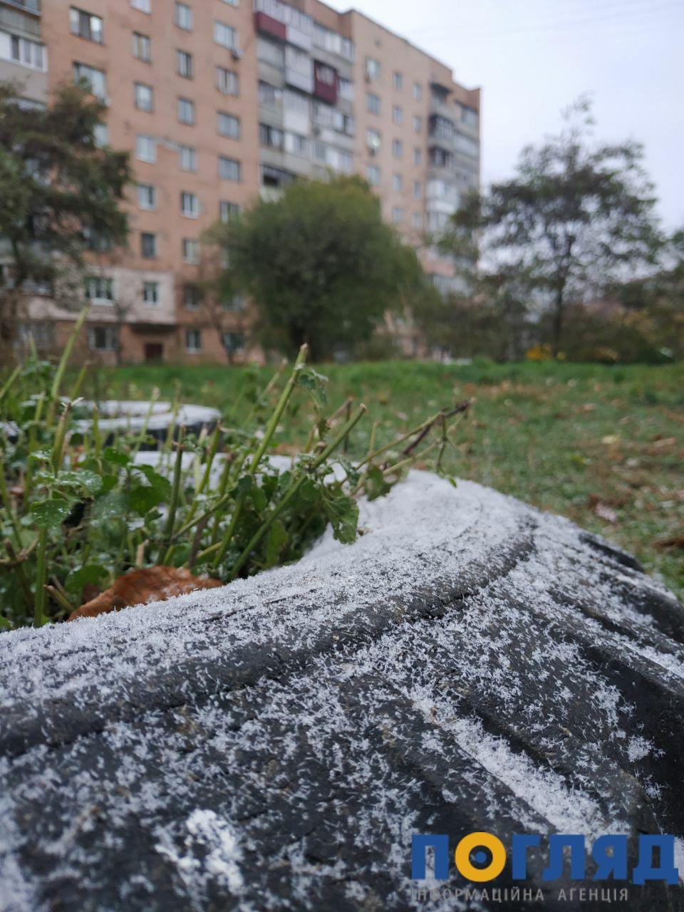 Засніжило: на Київщині випав перший сніг (ФОТО) - сніг, погода, перший сніг - 17 sneg Vyshgorod