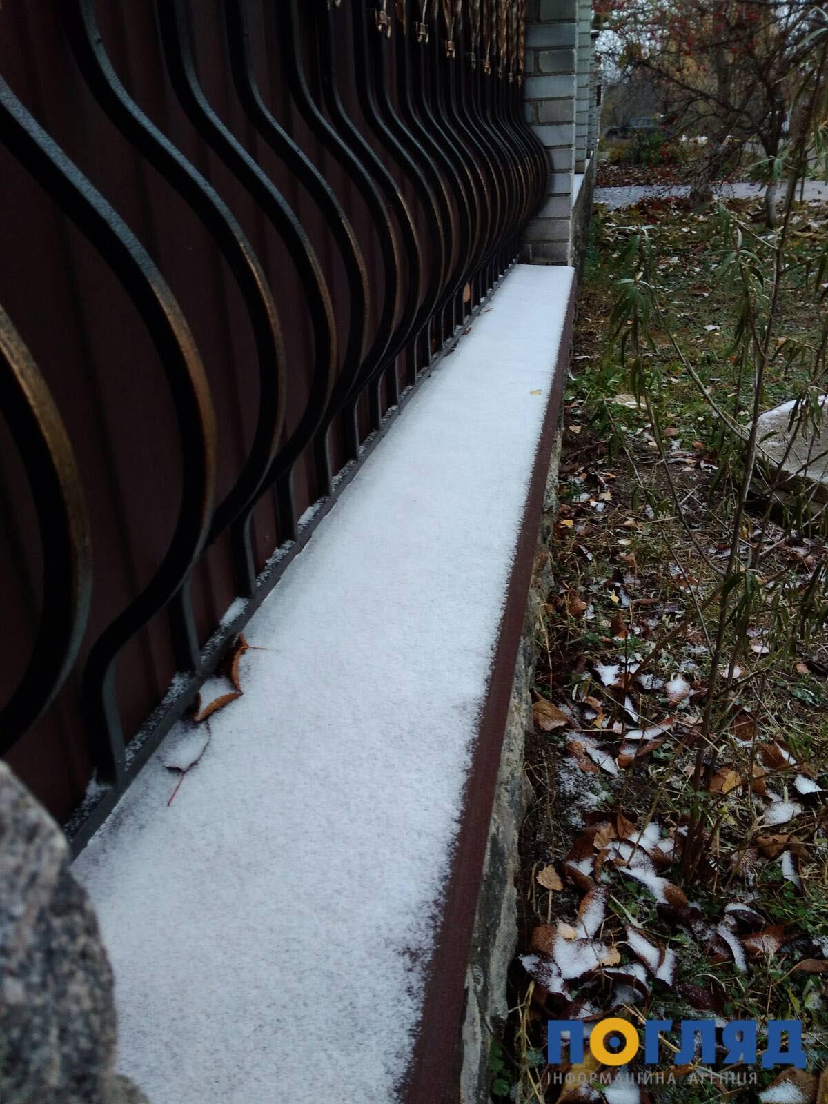 Засніжило: на Київщині випав перший сніг (ФОТО) - сніг, погода, перший сніг - 17 sneg borodyanka6