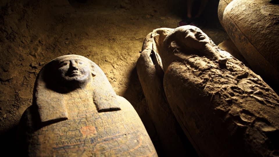 Деякі зі знайдених у вересні в Єгипті прадавніх саркофагів були запечатані «прокляттям» - поховання, історія, Єгипет, археологія, археологічні розкопки - 29 grobnytsa