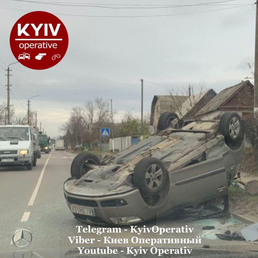 У Святопетрівському авто перекинулося на дах (ФОТО) - Святопетрівське, Дах, авто - 3 3