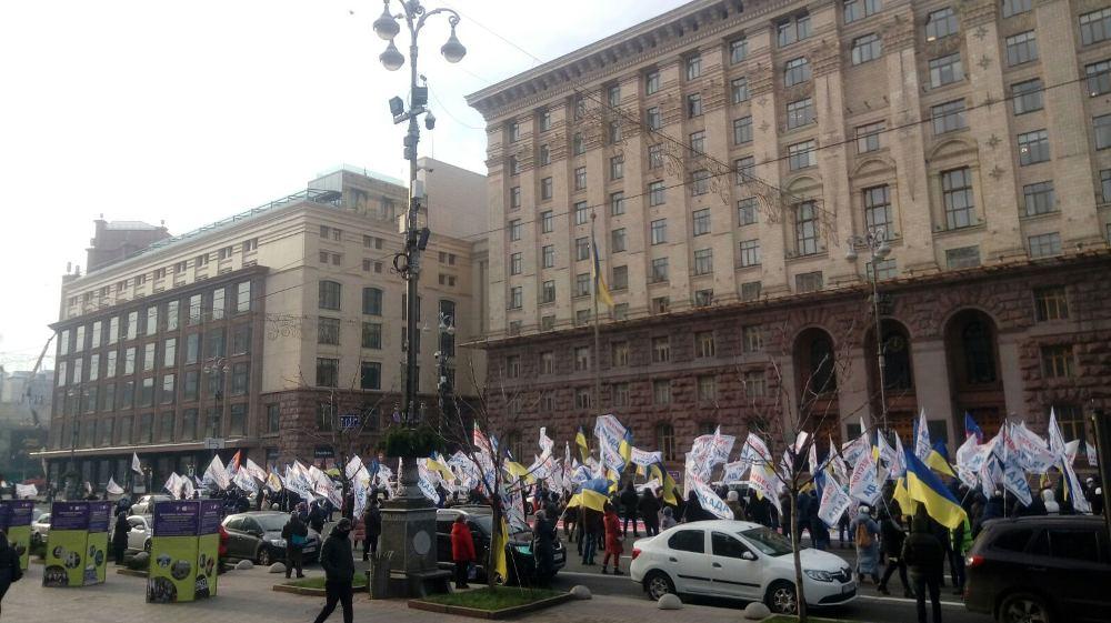 У Києві протестують вкладники банку «Аркада» - Будівництво, банк, Акція протесту - Arkada