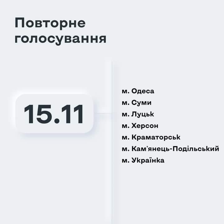 15 листопада в Україні - повторне голосування - - FB IMG 1605427935075