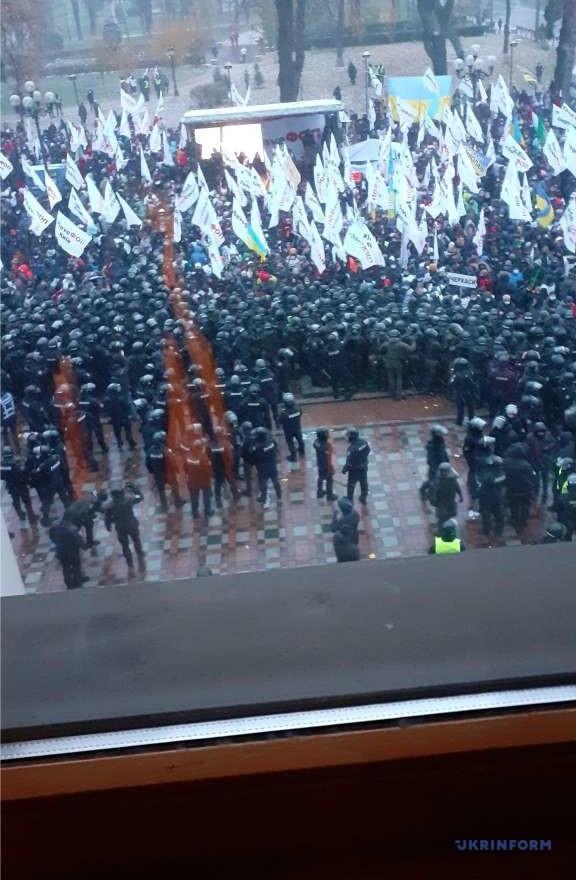 Протести біля Верховної Ради: що відбувається? - закон, ВРУ, Акція протесту - Protest Ukrinform2 obr