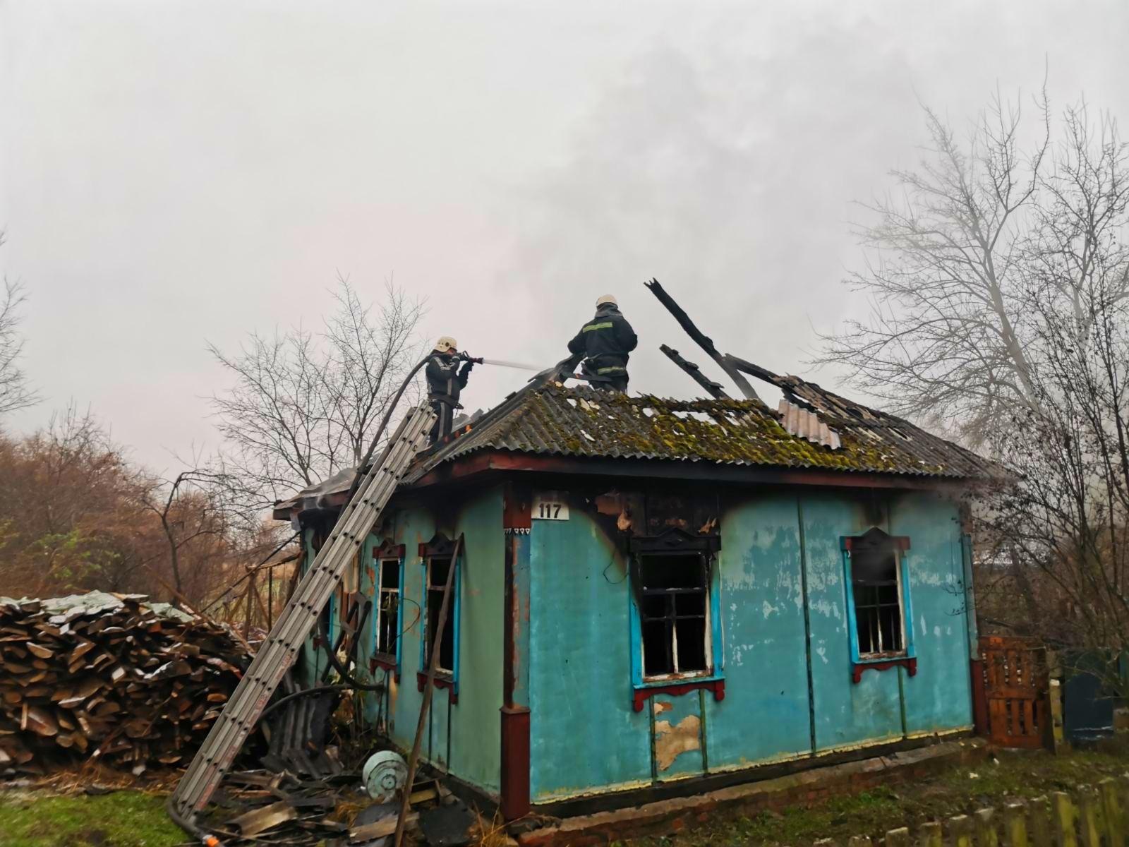 На Бородянщині під час пожежі у будинку загинула жінка - пожежі, пожежа, згоріла будівля, згорів будинок, бородянські пожежники, Бородянський район - 01